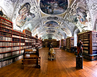 Library at Stravhov Monastery - Prague