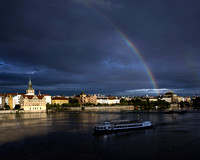 Rainbow over Vltava River - Prague