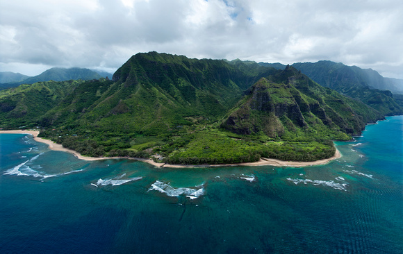 Aerial View of North Shore - Kauai