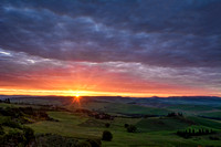 Sunrise at San Quirico d Orcia
