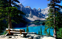 Bench with a View - Moraine Lake