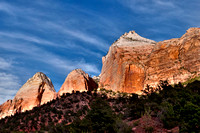Zion Canyon Peaks at Sunrise